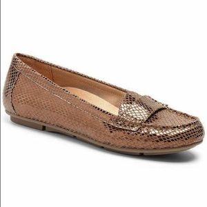 Vionic Larrun Bronze Snakeskin Loafer